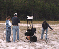 A dark sky observing session